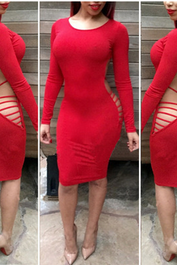 Backless Irregular Nightclub Bandage Dress Sexy Dress BLM
