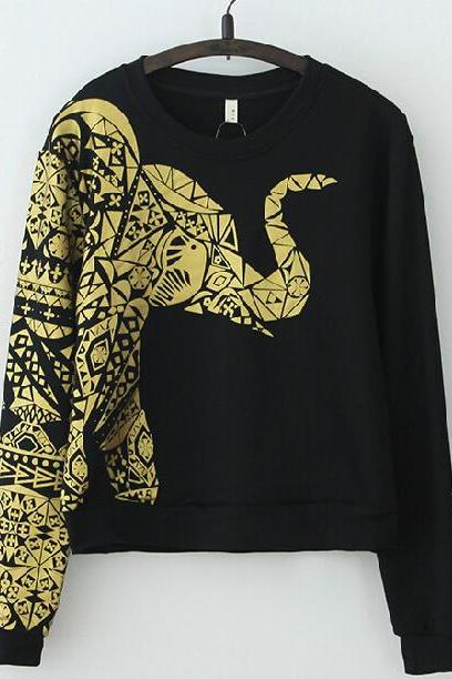 Elephant Printed Sweater