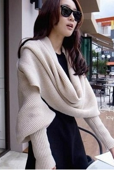 2016 new winter wool scarf With sleeves knit scarf