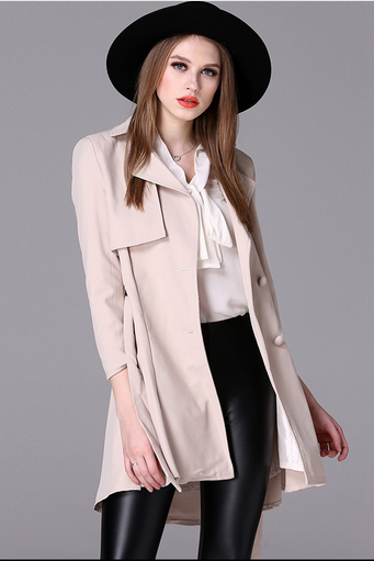 In the autumn of 2016 the new women's nine points in the sleeve long trench coat