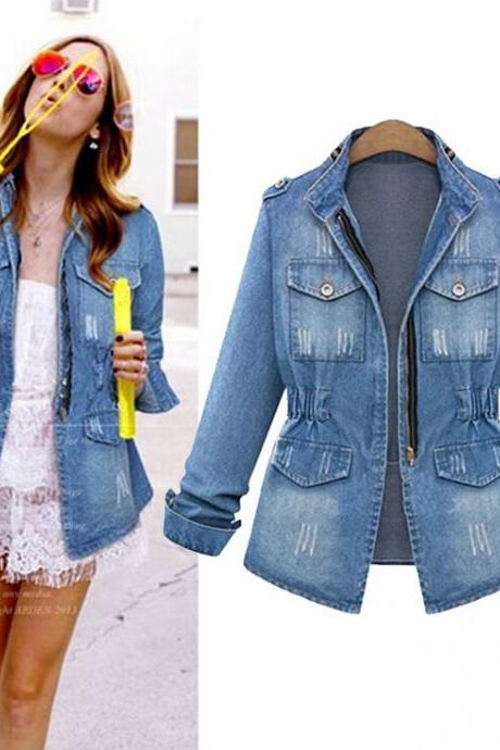 Fashion bodycon denim jacket