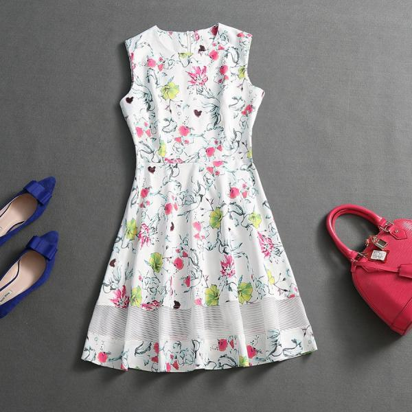 Fashion Printed Gauze Dress