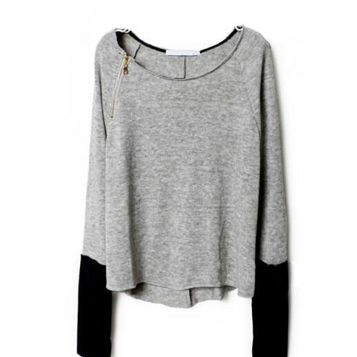 Long-sleeved knit bat sleeve sweater